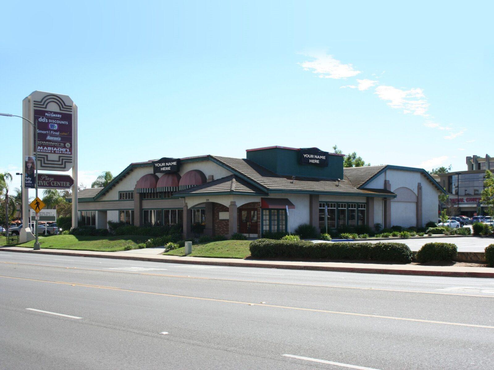 Civic Center Plaza   Freestanding Restaurant Building For Lease